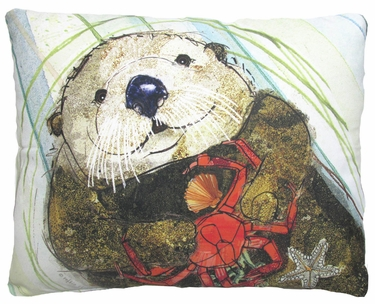 Otter Outdoor Pillow - Click to enlarge
