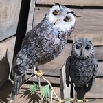 Metal Owls on Tree Branches (Set of 2)
