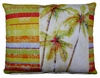 Palms Stripes Outdoor Pillow