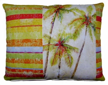 Palms Stripes Outdoor Pillow - Click to enlarge