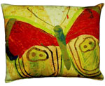 Paper Butterfly 2 Outdoor Pillow