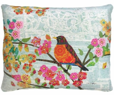 Parisian Bird Outdoor Pillow - Click to enlarge