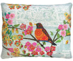 Parisian Bird Outdoor Pillow