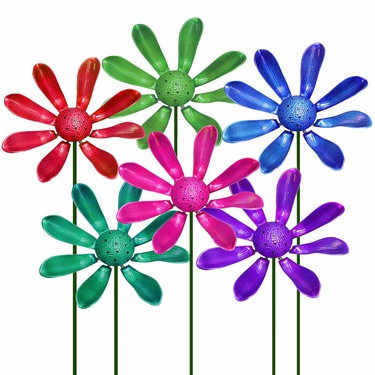 Beau Party Petals Flower Garden Stakes (Set Of 6)