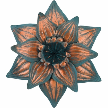 Patina Daffodil Flower Wall Decor - Click to enlarge