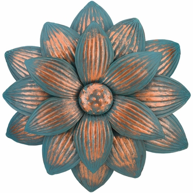 Patina Dahlia Flower Wall Decor - Click to enlarge