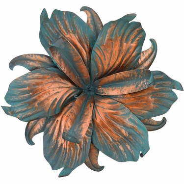 Patina Iris Flower Wall Decor - Click to enlarge