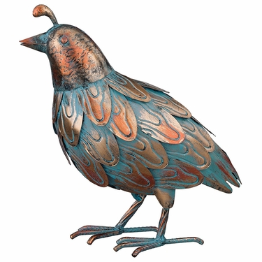 Patina Quail Bird - Upright - Click to enlarge