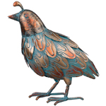 Patina Quail Bird - Upright