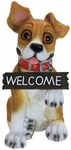 Paw Shaking Dog w/Welcome Sign