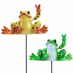 Peace Frog Garden Stakes (Set of 6)