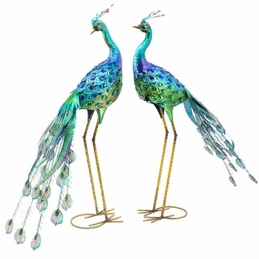 Amazing Peacock Bird Decor (Set of 4) - Click to enlarge