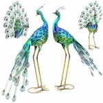 Amazing Peacock Bird Decor (Set of 4)