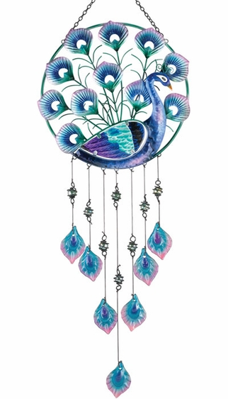 Peacock Circle Hanging Decor - Click to enlarge