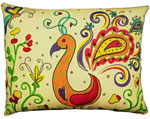 Peacock/Flamingo Outdoor Pillow