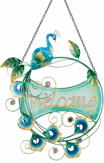 Peacock Welcome Sign - Click to enlarge