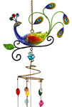 Peacock Wind Chime w/Jewels