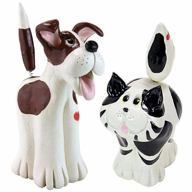 Cat & Dog Statues  (Set of 2) - Click to enlarge