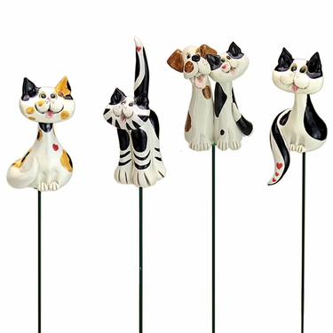 Pence Pets Cats Plant Stakes (Set of 4) - Click to enlarge