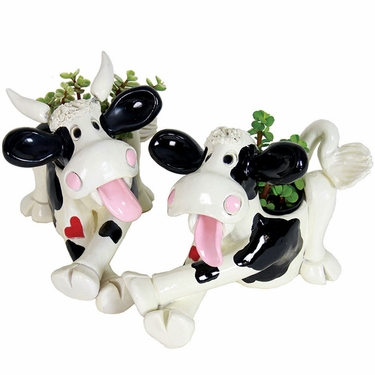 Cow & Bull Belly Planters (Set of 2) - Click to enlarge