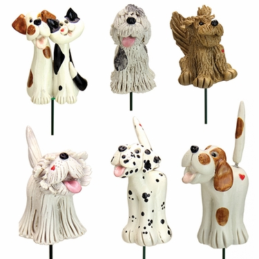 Pence Pets Dogs Plant Stakes (Set of 6) - Click to enlarge