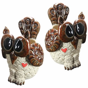 Owl Planters (Set of 2) - Click to enlarge