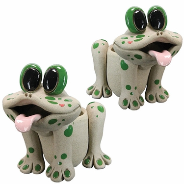 Twin Frog Planters (Set of 2) - Click to enlarge