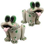 Twin Frog Planters (Set of 2)