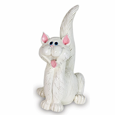 White Cat Statue - Click to enlarge
