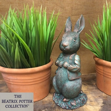 Peter Rabbit Garden Statue: The Beatrix Potter Collection - Click to enlarge