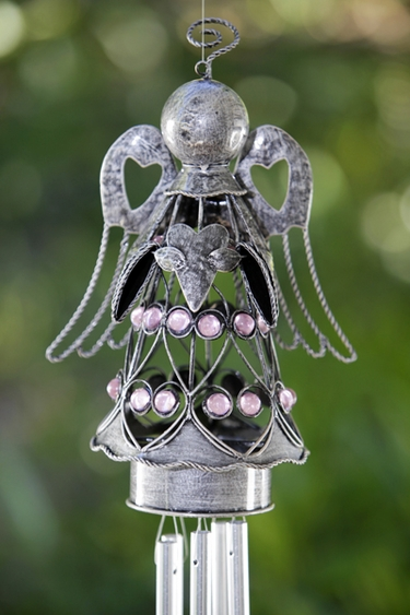 Pewter Angel Wind Chime - Click to enlarge