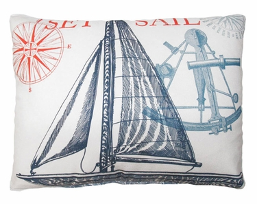 Pier 45 Sailboat Natural Outdoor Pillow - Click to enlarge