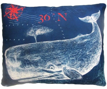 Pier 45 Whale Outdoor Pillow - Click to enlarge