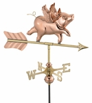 Pig with Wings Weathervane