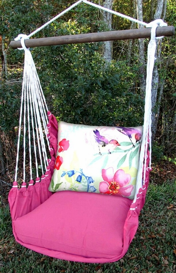 Pink Aviary 2 Birds Hammock Chair Swing Set - Click to enlarge
