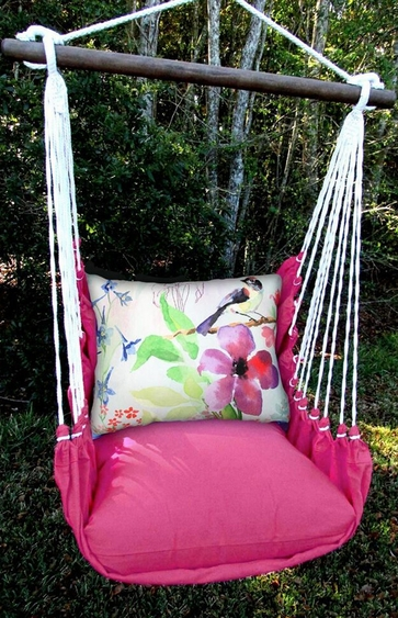 Pink Aviary Bird Hammock Chair Swing Set - Click to enlarge
