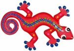 Pink Blue Gecko Wall Decor