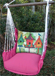 Pink Collection Birdhouses Hammock Chair Swing Set