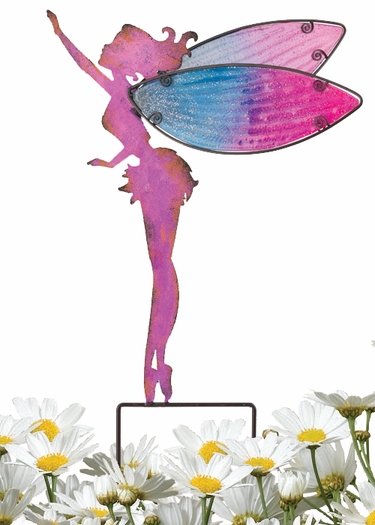 Large Pink Fairy Garden Stakes (Set of 2) - Click to enlarge