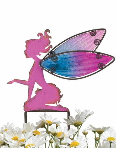 Small Pink Fairy Stakes (Set of 4) - Click to enlarge