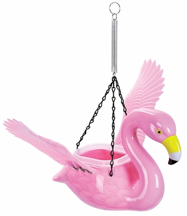 Pink Flamingo Bird Feeder/Planter - Click to enlarge
