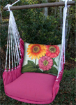 Pink Garden Zinnias Hammock Chair Swing Set