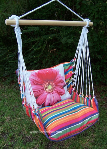 pink gerbera daisy hammock chair swing set only at