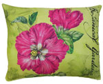 Pink Hibiscus Outdoor Pillow