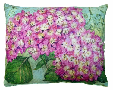 Pink Hydrangea Outdoor Pillow - Click to enlarge