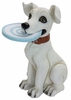 Playful Dog w/Frisbee Statue