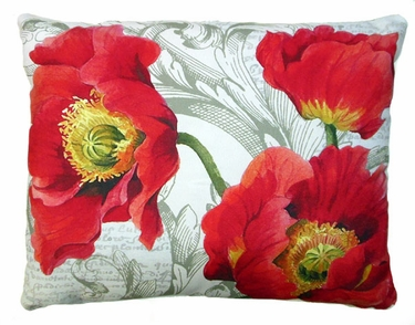 Poppies Outdoor Pillow - Click to enlarge