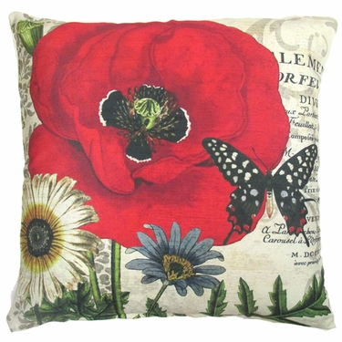 Poppy 1 Outdoor Pillow - Click to enlarge