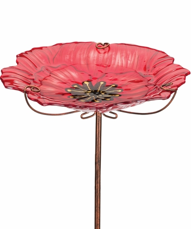 Poppy Glass Bird Feeder - Click to enlarge