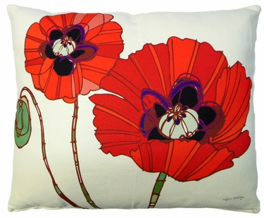 Poppy Love Outdoor Pillow - Click to enlarge